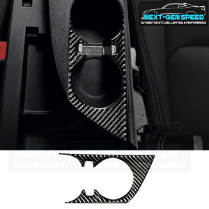 Real Carbon Fiber Cup Holder Cover | 2016-2020 Chevy Camaro