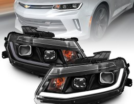 Black LED Projector Headlights with DRL's | 2016-2018 Camaro
