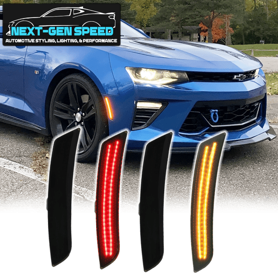 Next-Gen Smoked Dual LED Side Markers   2016-2020 Chevy Camaro