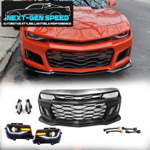 5th to 6th Gen ZL1 Front Bumper Kit w/ 6th Gen Style Headlights | 2014-2015 Chevy Camaro