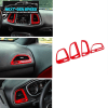 Colored/Carbon Fiber Dashboard Vent Trim Kit | 2015-2020 Dodge Challenger