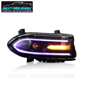 Prebuilt RGB LED Projector Headlights   2015-2021 Dodge Charger
