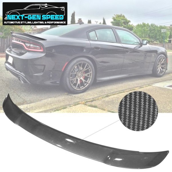 Carbon Fiber Style SRT Spoiler | 2015-2020 Dodge Charger