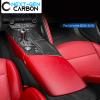 Real Carbon Fiber Center Console Overlay Kit | 2014-2019 Chevy Corvette C7