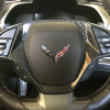 Real Carbon Fiber Steering Wheel Trim Cover | 2014-2019 Chevy Corvette C7