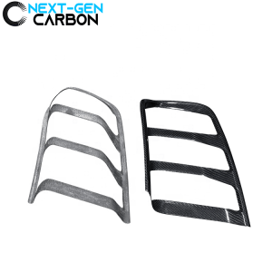 Carbon Fiber Tail Light Trim Covers | 2015-2017 Ford Mustang