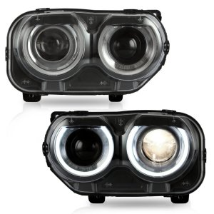Prebuilt RGB LED Headlights | 2015-2021 Dodge Challenger