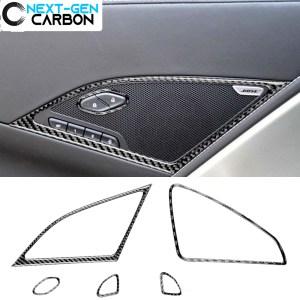 Carbon Fiber Speaker Door Lock Trim  | 2014-2019 Chevy Corvette C7