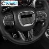 Carbon Fiber Steering Wheel Trim Covers | 2015-2021 Dodge Challenger & Charger