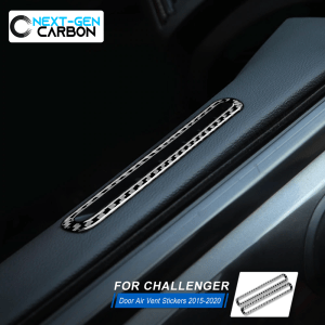 Carbon Fiber Door Vent Trim Covers | 2015-2021 Dodge Charger/Challenger