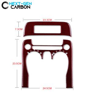 Carbon Fiber Radio/Climate Control Trim Overlay | 2010-2015 Chevy Camaro