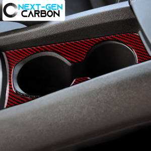 Carbon Fiber Cup Holder Trim Overlay | 2010-2015 Chevy Camaro