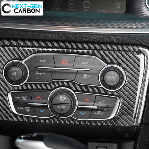 Carbon Fiber Climate Control Insert Overlay | 2015-2021 Dodge Charger