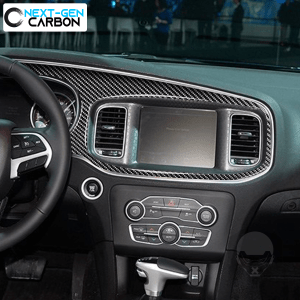 Carbon Fiber Dashboard Insert Overlay | 2015-2021 Dodge Charger