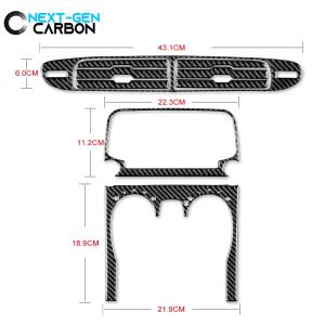 Carbon Fiber Radio/Climate Control Trim Overlay | 2013-2015 Chevy Camaro