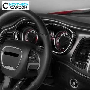 Carbon Fiber Speedometer Trim Frame | 2015-2021 Dodge Challenger
