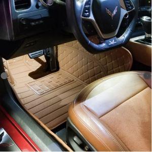 Corvette C7 Custom Artificial Leather Waterproof Floor Mat | ElementMat®- 2014-2019 Corvette