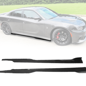 Gloss Black Ikon SRT Side Skirts | 2015-2021 Dodge Charger SRT
