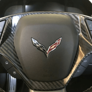 Carbon Fiber Look Steering Wheel Trim Cover | 2014-2019 Chevy Corvette C7