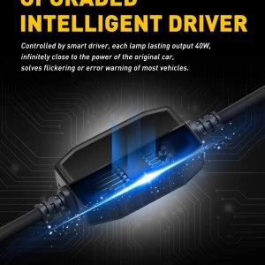 AUXITO 9005 LED 16,000LM 6500K White Car Headlight Bulbs
