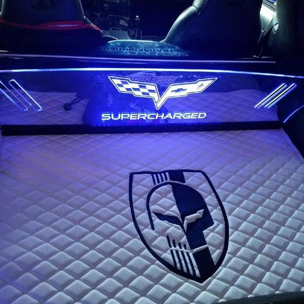 WindRestrictor® Corvette C6 Coupe Rear Glow Plate | 2005-2013 Corvette C6 Coupe Model