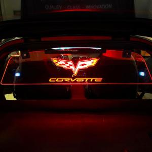 WindRestrictor® Corvette C6 Coupe Rear Glow Plate | 2005-2013 Corvette C6 Coupe Model