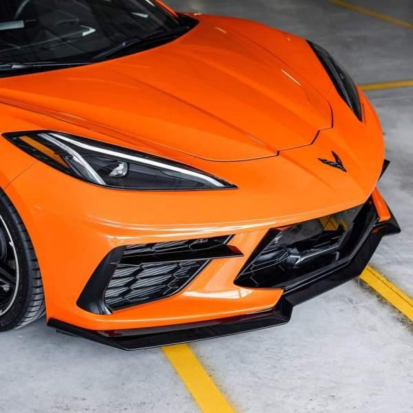 ACS 1VM C8 Front Splitter – Carbon Flash | 2020+ C8 Corvette