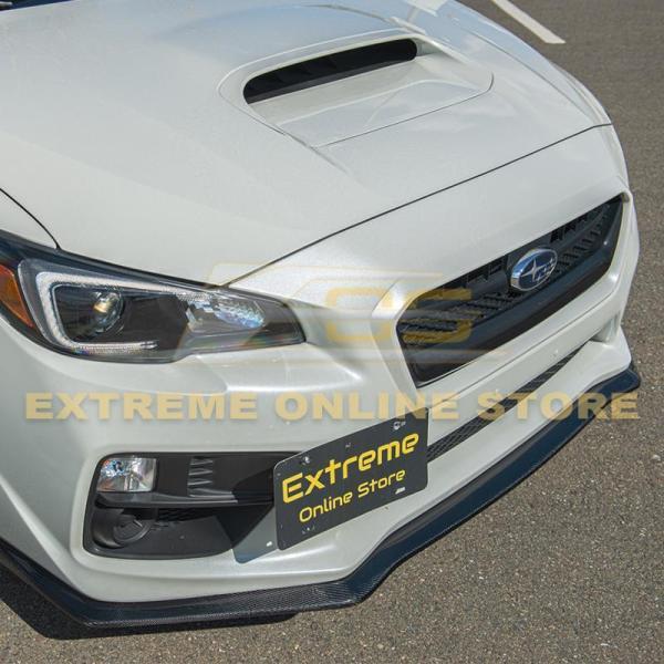 Carbon Fiber HT Style Front Splitter Lip Ground Effect | 2015-17 Subaru WRX / STI