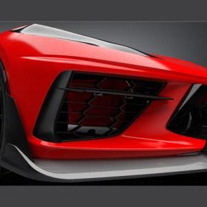 Track Carbon Fiber Front Splitter Lip  | 2020+ C8 Corvette – C7Carbon
