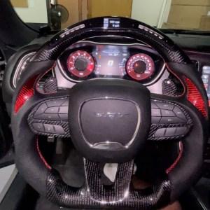 LED Carbon Fiber Steering Wheel (Complete) | 2015 – 2021 Dodge Charger/Challenger