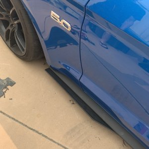GT500 Style Side Skirt Extension | 2015-21 Ford Mustang – ZL1Addons
