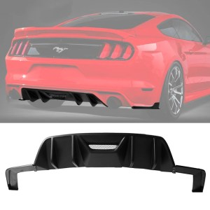 3PC Matte Rear Bumper Diffuser | 2015-2017 Ford Mustang