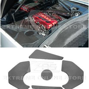 Carbon Fiber Engine Bay Trim Panel Overlay Covers | 2020+ Chevy Corvette C8