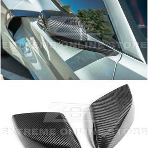 Carbon Fiber Mirror Cover Caps | 2020 – 2021 C8 Corvette