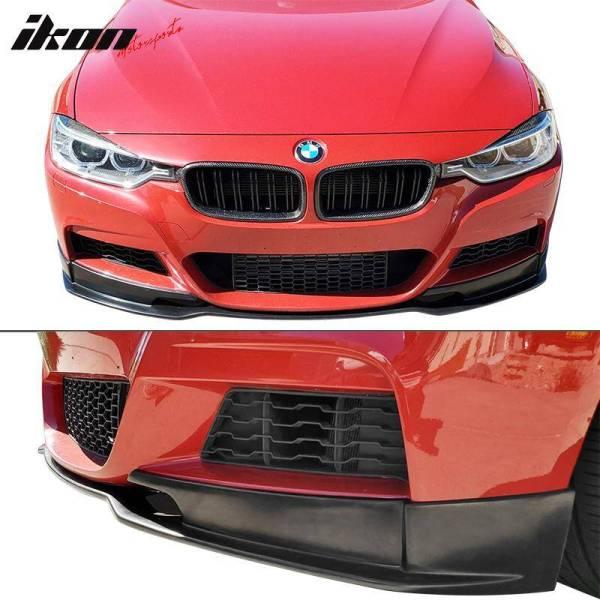 MT M Sport Type E Front Bumper Lip   2012-18 BMW 3-Series F30 M Sport