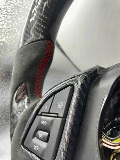 Carbon Fiber Steering Wheel   2016 – 2021 Chevy Camaro LT (No Paddle Shifters)