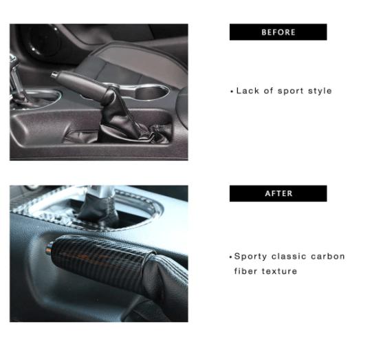 Carbon Fiber Emergency Brake Handle Cover | 2015-2021 Ford Mustang