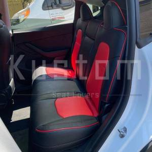 Two-tone Custom Leather Seat Covers | 2020+ Tesla Model Y