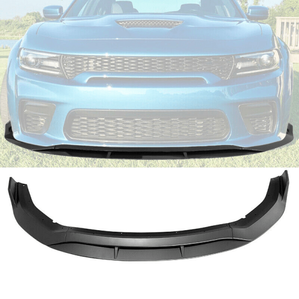Charger Widebody Matte Black Front Bumper Lip 4PC | 2020 – 2021 Dodge Charger