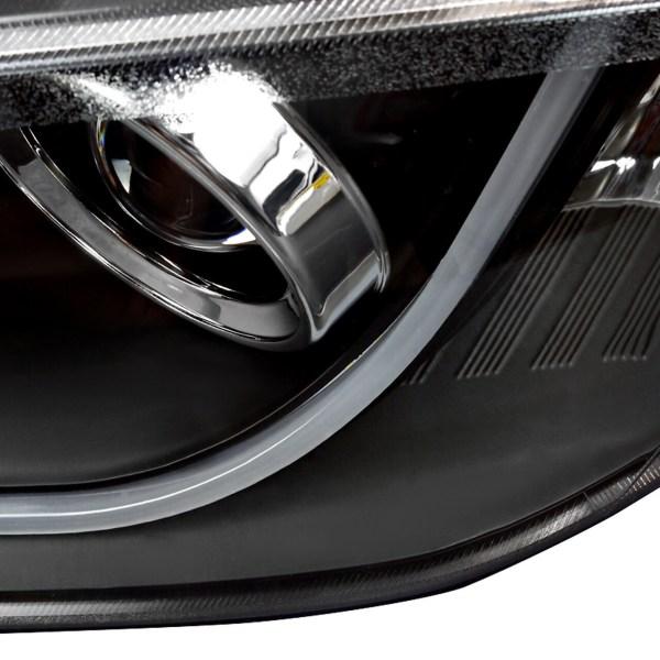 2008 – 2009 Pontiac G8 LED Bar Projector Headlights (Matte Black Housing/Clear Lens)