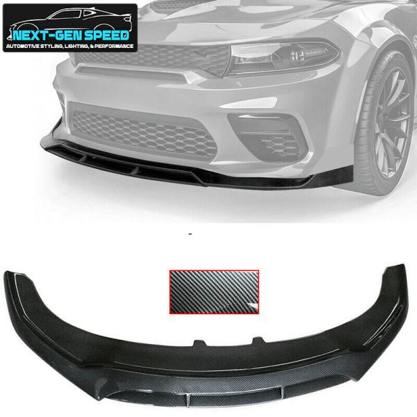 Carbon Fiber SRT Widebody V3 Splitter Lip | 2020 – 2021 Dodge Charger