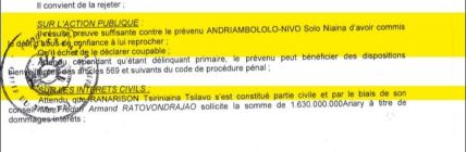 RANARISON-Tsilavo-NEXTHOPE-RAMBELO-Volatsinana-Il-résulte-preuve-suffisante-contre-le-prévenu-Solo-est-elle-une-motivation.