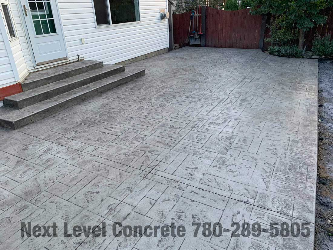 stamped concrete patio in st albert