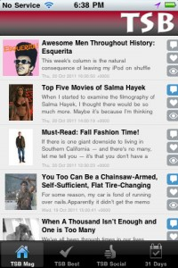 The awesome FREE Tsb Mag iPhone app