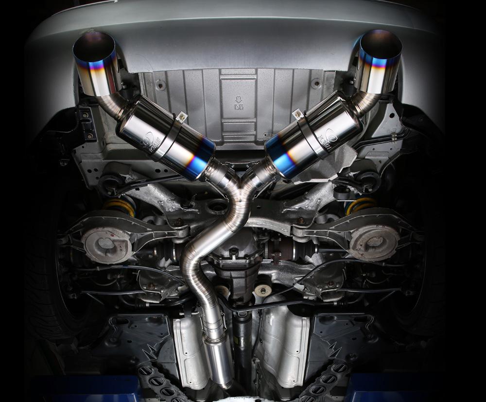 tomei ti racing titanium dual muffler exhaust nissan 370z z34