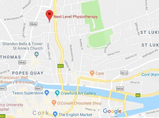 Find Next Level Physiotherapy within MD Clinic on Watercourse Road, Blackpool, Cork