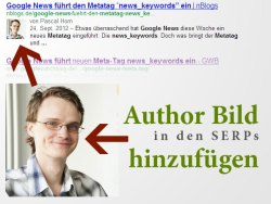 Author Bild in den Google Suchergebnissen anzeigen