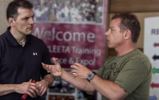 Mike Interviewing Tony Blauer at ILEETA