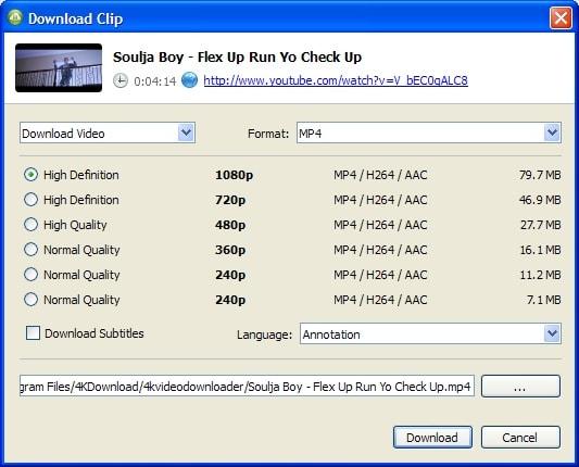 4K video downloader to download youtube videos