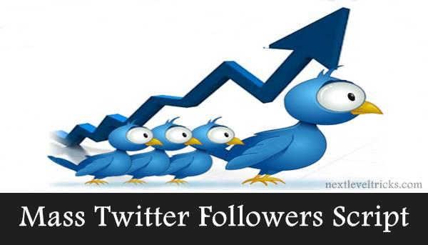 Mass Twitter Followers Script